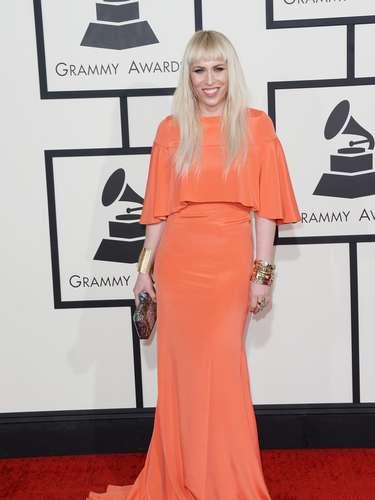 Natasha Bedingfield sí que resaltó en ese color naranja
