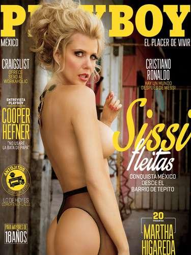 Sissi Fleitas se robó millones de suspiros con su aparición en la portada del número de febrero 2014 de la revistaPlayboy.