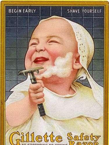 Esta imagen de un sonriente niño afeitándose sería impensable ahora.
