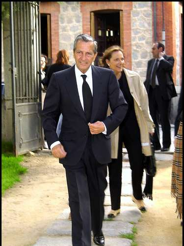 El expresidente, en una imagen tomada el 17 de mayo de 2002 durante el funeral por su mujer, Amparo Illana, en Ávila.