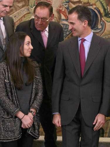 La joven y nieta mayor de Adolfo Suárez fue recibida por el Príncipe como miembro del Comité Ejecutivo de la Asociación para la Defensa de la Transición.
