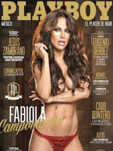Fabiola Campomanes.- La actriz posó de nueva cuenta para la revista Playboy México, que celebra su aniversario número once, pero aseguró que no volverá a desnudarse en alguna publicación. \
