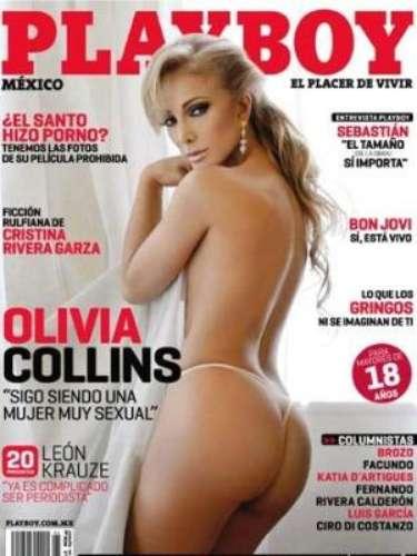 Olivia Collins.-Ella engalanó la portada del mes de septiembre de 2010 de la revista Playboy y aseguró que para lograr las fotografías de la revista, se vio a si misma como toda una diva.