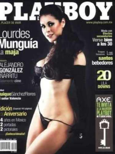 Lourdes Munguía.-Esta es una de las actrices maduritas (tiene 52 años) que se atrevió a desnudarse para la revista. En octubre de 2006 hizo una sesión en la que casi no dejó nada a la imaginación.