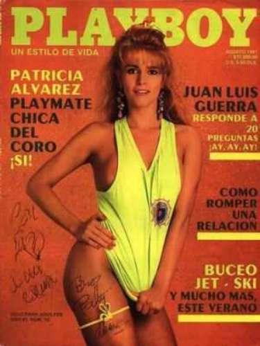 Patricia Álvarez.- En agosto de 1991, la cantante y actriz también posó para la lente de la edición mexicana de la revista creada por Hugh Hefner.