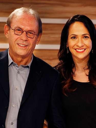 José Wilker fallecióeste sábado a la mañana, víctima de un infarto fulminante, en su casa de Río de Janeiro.En esta foto, el actor conMaria Beltrão, en la entrega de los premiosOscar 2013