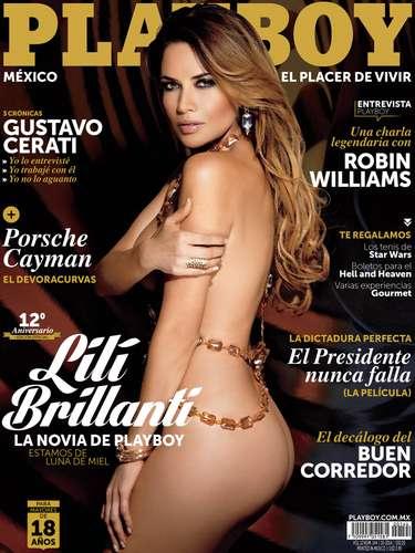 Lilí Brillantí posó a sus 41 años en la edición de Octubre de la revista Playboy.