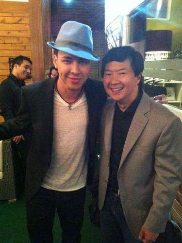 Ken Jeong and Prince Royce having fun, which must be a given with the hilarious actor.