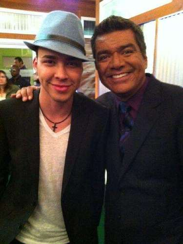 With the comedian George Lopez.
