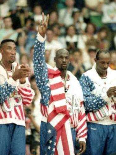 Michael Jordan also found success internationally as part of the 'Dream Team' which took gold in Barcelona '92.