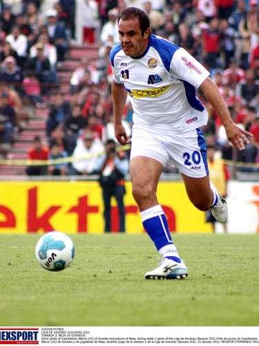 Cuauhtémoc Blanco actualmente juega en los Dorados de Sinaloa de la Liga de Ascenso.