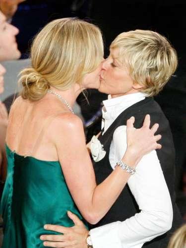 Portia de Rossi junto a su pareja Ellen DeGeneres.