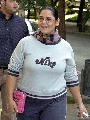 Rosa López, en el año de la entrada de Operación Triunfo, 2002. Rosa estaba despreocupada por la moda y el estilo que más le iba