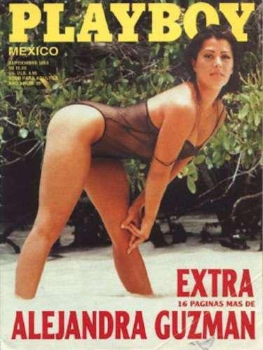 Alejandra Guzmán fue la estrella de un número especial de Playboy en septiembre de 1993. Toda la sesión, salvo la portada, era de fotos en tonos sepia y la verdad es que la cantante ha enseñado mucho más en sus conciertos que en esta revista.