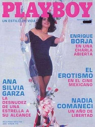 Ana Silvia Garza se llevó la portada de la edición de noviembre de 1990, cuando aún se creía que era la hermana (y no la madre) de la extimbiriche Mariana Garza.