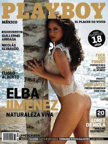 La actriz Elba Jiménez tampoco tuvo reparos en seducir a los caballeros con sus fotos para Playboy en agosto de 2010.