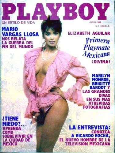 La actriz Elizabeth Aguilar marcó historia en la revista del conejito pues fue la primera playmate mexicana que mostró sus encantos en la publicación en junio de 1984.