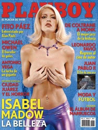 Isabel Madow aprovechó la fama que ganó tras participar en 'Big Brother VIP' y se lució en la cubierta de la revista para caballeros en mayo de 2005.