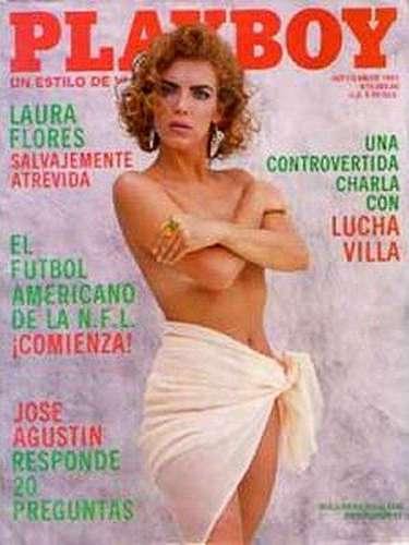 En septiembre de 1991, Laura Flores protagonizó una recatada sesión de fotos en la playa. Pocos recuerdan la aparición de esta actriz en la revista para caballeros.