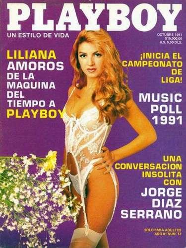 La modelo Liliana Amorós, que se hizo famosa al participar en algunos programas de concurso, fue la conejita de la edición de octubre de 1991.