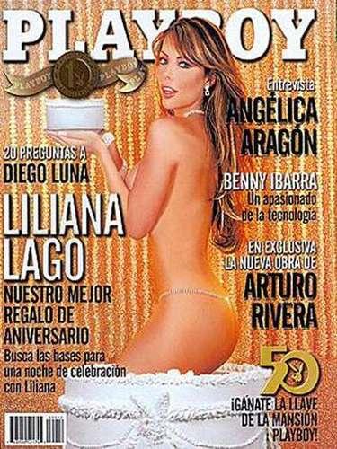 Liliana Lago también puso color en las mejillas de los lectores de Playboy con su aparición en octubre de 2003.