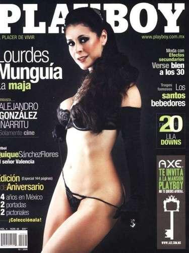 Lourdes Munguía es una de las actrices maduras que se atrevió a desnudarse para la revista. En octubre de 2006 hizo una sesión en la que no dejó nada a la imaginación.