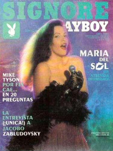 La cantante María del Sol apareció bastante recatada en Playboy en abril de 1989.