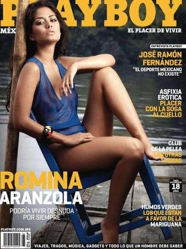 La conductora Romina Aranzola atrapó las miradas de los caballeros con su destape en la Playboy de diciembre de 2010.