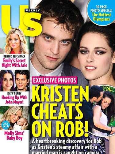 La revista Us Weekly ha sacado a la luz una fotografía en la que Kristen aparece junto con Rupert Sanders, su director en 'Snow White ant The Huntsman', y la publicación sostiene que ambos tuvieron una aventura amorosa. 'Kristen está derrotada. Fue un error, un lapsus', contó una fuente a la revista People.