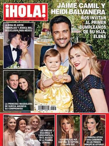 Jaime Camil y Heidi Balvanera nos invitan al primer cumpleaños de su hija, Elena.
