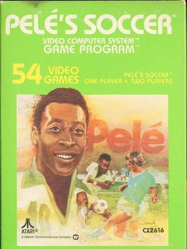 One of the first big soccer games for the portable console was Pele's Championship Soccer, released on the Atari 2600 in 1980. It's graphics are almost laughable today, as three red squares battled three blue squares for control of the white ball, but the gameplay was realistic for its time, and it was endorsed by the best player of all time.