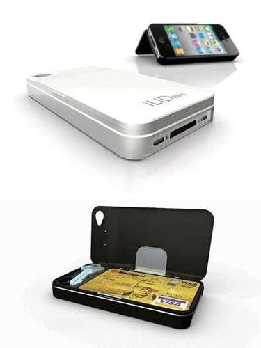 Case wallet para el iphone: para guardar su teléfono y su tarjeta en una cartera súper delgada. 40 dólares.