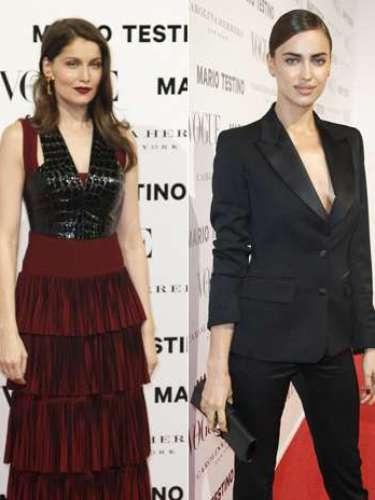 Las invitadas internacionales, Irina Shayk y Laetitia Casta, fueron las más aclamadas de la fiesta.
