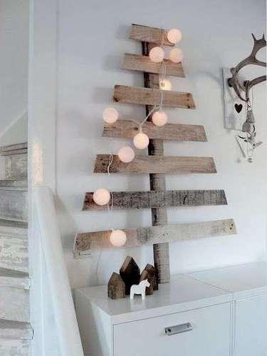 ¿Tienes madera en casa? Utilízala para llenar tu casa de espíritu decembrino.