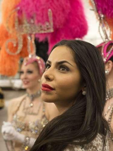 Obnubiladas por la belleza y colorido del evento, candidatas como Miss Noruega, Sara Nicole Anderson, hicieron impactadas el paseo por las instalaciones del teatro.