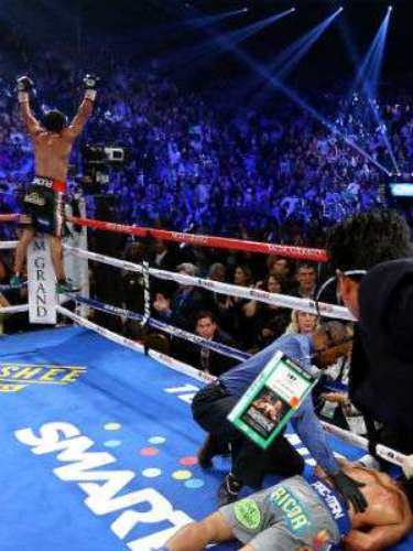 It was the second straight loss for Pacquiao after a controversial defeat to Timothy Bradley in May.