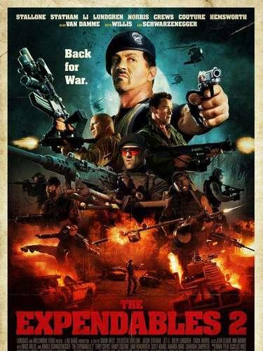 18.The Expendables 2. Todos los héroes de acción conocidos en una misma imagen. ¡Sin palabras!