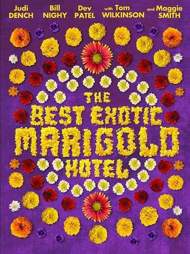 23.The Best Exotic Marigold Hotel. Un poster que nos remonta a la clásica portada de Sgt. Pepper's Lonely Hearts Club Band, ¿no lo creen?