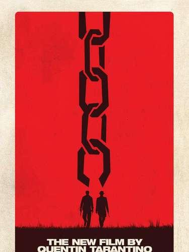 4. Django Unchained. A pesar de ser un poster muy sencillo, la imagen evoca lo que el director Quentin Tarantino quiere lograr. La película se estrena el 25 de diciembre del 2012.