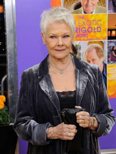 Judi Dench porThe Best Exotic Marigold Hotel.