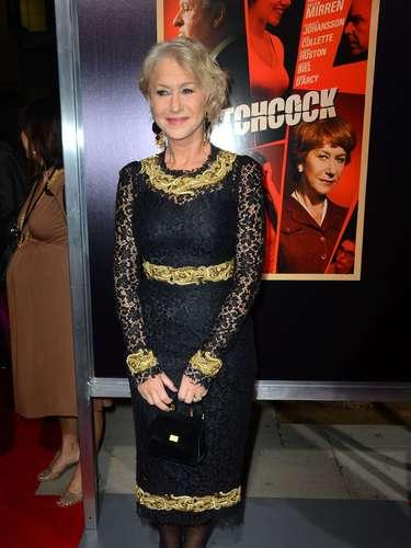 Helen Mirren por Hitchcock.