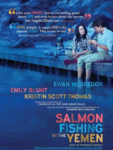 Salmon Fishing In The Yemen con Emily Blunt y Ewan McGregor fue nominada a los Golden Globe.