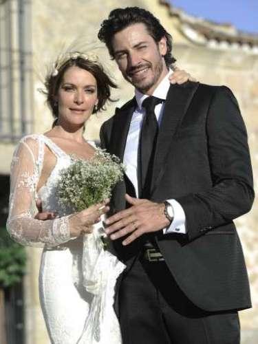 El exmister España, Pablo Martín y Marta Cabezas se casaron en Villafranca la Real en agosto.