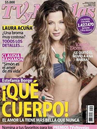 Estefania Borge para la revista Tv y Novelas.