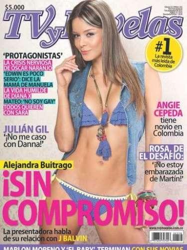 Alejandra Buitrago Mostró cuerpazo para Tv y novelas.