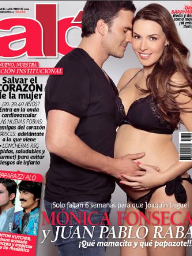 Monica Fonseca mostro su embarazo en biquini.