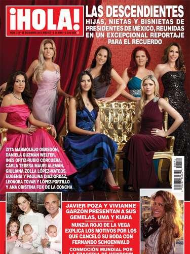 Hijas, nietas y bisnietas del presidente de México, reunidas en un reportaje para la revista Hola!