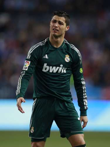 Real Madrid's Cristiano Ronaldo reacts during their Spanish First Division soccer match against Malaga.