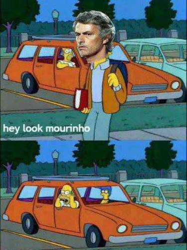 This memes finds Homer Simpson mocking Jose Mourinho over his team's whole in La Liga.