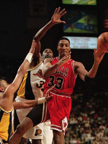 Seattle trades rights to Scottie Pippen (1987): On draft day, the Bulls traded their eighth pick, center Olden Polynice, a second-round pick and the option to switch picks in 1989 for Pippen, the fifth choice, and finally found a player who could complement Michael Jordan. The Bulls went on to win six NBA titles, and Pippen was named one of the 50 greatest NBA players of all-time. Polynice ended up an NBA journeyman who played for five teams in a 15-year career.